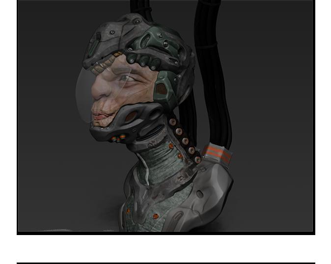 Screen grab of raw zbrush model
