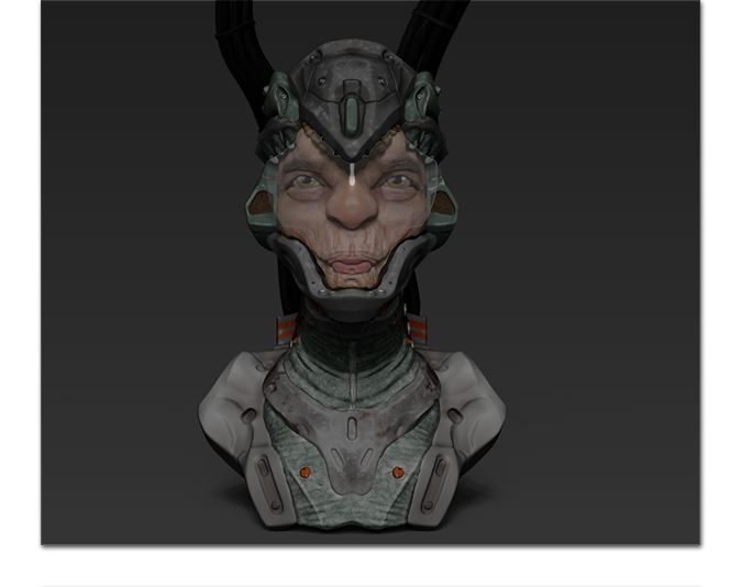 Screen grab of raw zbrush model
